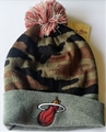 Miami Heat NBA Camo Cuffed Knit Cap with Pom *NEW*