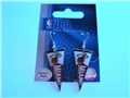 Miami Heat NBA Team Pennant Silver Dangle Earrings *CLOSEOUT*