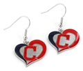 Cleveland Indians MLB Swirl Heart Dangle Earrings *SALE*