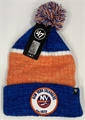 New York Islanders NHL Royal Holcomb Knit Cuff Cap w/ Pom *NEW*