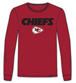 Kansas City Chiefs NFL Red Pregame Club Mens Long Sleeve Tee *NEW* Size M