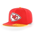 Kansas City Chiefs NFL Torch Red Double Up Captain Adjustable Snapback Hat *NEW*