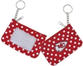 Kansas City Chiefs NFL Nylon Polka Dot Coin Purse Key Ring