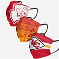 Kansas City Chiefs NFL Matchday Face Cover 3-Pack *NEW*
