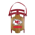 Kansas City Chiefs NFL Metal Sled Ornament *NEW*