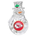 Kansas City Chiefs NFL Traditional Snowman Ornament *NEW* - 6 Count Case