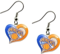 New York Knicks NBA Swirl Heart Dangle Earrings *SALE*