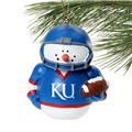 Kansas Jayhawks NCAA Football Snowman Ornament *CLOSEOUT* - 6 Count Case
