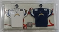 Los Angeles Chargers NFL Home & Away Jersey Ornament 2 Pack Set *NEW* - 6 Count Case
