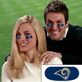 Los Angeles Rams NFL Vinyl Face Decorations 6 Pack Eye Black Strips *CLOSEOUT*