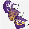 LSU Tigers NCAA Matchday Face Cover 3-Pack *NEW*