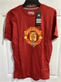 Manchester United Soccer Adidas Scarlet Mens Performance Tee *NEW*