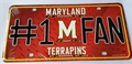 Maryland Terrrapins #1 Fan NCAA Embossed Metal License Plate Tag