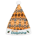 "Miami Dolphins NFL Knit Holiday 18"" Christmas Santa Hat"