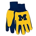 Michigan Wolverines Yellow NCAA Two Tone Sport Utility Work Gloves