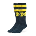 Michigan Wolverines NCAA Navy Lamba Sport OTC Sock Size M