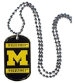 Michigan Wolverines NCAA Dog Tag Necklace *NEW*