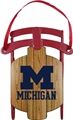 Michigan Wolverines NCAA Metal Sled Ornament *CLOSEOUT*