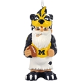 Michigan Wolverines NCAA Resin Thematic Gnome Ornament
