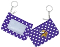 Minnesota Vikings NFL Nylon Polka Dot Coin Purse Key Ring