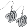 Washington Nationals Logo MLB Silver Chrome Dangle Earrings *SALE*