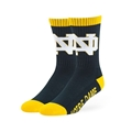 Notre Dame Fighting Irish NCAA Standalon Navy Bolt Sport Sock Size M