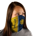 Notre Dame Fighting Irish NCAA Vertical Split ND Fan Wrap Neck Gaiter *NEW*