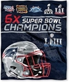 New England Patriots NFL 6X Super Bowl Champions HD Silk Touch Throw Blanket *SALE*