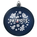 New England Patriots NFL Snowflake Blue Shatter-Proof Ball Ornament 6 Count Case *NEW*
