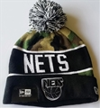 Brooklyn Nets NBA Camo Cuffed Knit Cap with Pom *NEW*