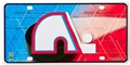 Quebec Nordiques NHL Vintage Embossed Metal License Plate *CLOSEOUT*