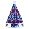 "New York Giants NFL Knit Holiday 18"" Christmas Santa Hat"