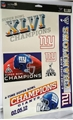 "New York Giants Super Bowl XLVI Champions NFL 11"" x 17"" Ultra Decal Sheet *CLOSEOUT* - 67ct Lot"