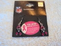 Oakland Raiders Pink Ribbon NFL BCA Silver Dangle Earrings *SALE*