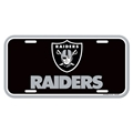 Oakland Raiders NFL Souvenir Black Plastic License Plate