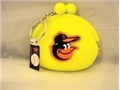 Baltimore Orioles MLB Neon Silicone Coin Purse Key Ring *CLOSEOUT $1 EACH*