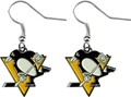 Pittsburgh Penguins NHL Silver Dangle Earrings