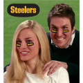 Pittsburgh Steelers NFL Vinyl Face Decorations 6 Pack Eye Black Strips