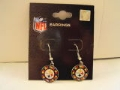 Pittsburgh Steelers Multi Color Glitter NFL Silver Dangle Earrings *CLOSEOUT*