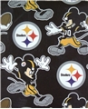 "Pittsburgh Steelers Mickey Mouse NFL 40"" x 50"" Fleece Throw"