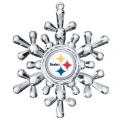 Pittsburgh Steelers NFL Traditional Snowflake Ornament 6ct Box *SALE*