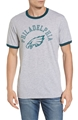 Philadelphia Eagles NFL OG Grey Capital Ringer T Shirt *NEW* Asst Sizes