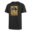 Pittsburgh Pirates MLB Cooperstown Charcoal Grit Vintage Scrum Tee Shirt Mens *NEW*
