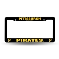 Pittsburgh Pirates MLB Black Plastic License Plate Frame *CLOSEOUT*