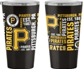 Pittsburgh Pirates MLB 16oz Spirit Ultra Pint Stainless Steel Travel Tumbler *NEW*