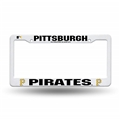 Pittsburgh Pirates MLB White Plastic License Plate Frame *SALE*