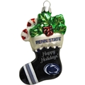 Penn State Nittany Lions NCAA Blown Glass Glitter Stocking Ornament *SALE* - 6 Count Case