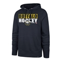 Buffalo Sabres NHL Fall Navy Blockout Headline Mens Hoodie *SALE*