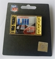 "Super Bowl LIII Logo NFL ""I was there!"" Ticket Collector Pin *CLEARANCE*"