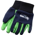 Seattle Seahawks NFL 2 Tone Green/Blue Sport Utility Work Gloves *CLOSEOUT*
